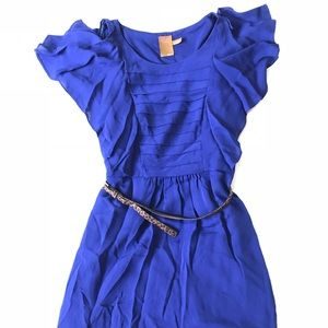 Ali Ro Blue Ruffle Sleeveless Dress